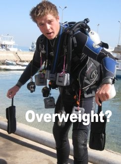 No, I usually dive with 33kg. That's my story and I'm sticking to it.