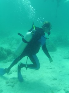 No buoyancy skills? no problem! he's a diving god - no advice or further training required.